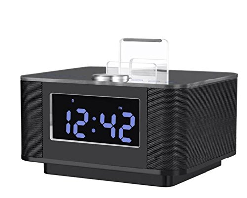 MAIDIAO Modo creativo portatile touch screen LED muto Allarmi elettronici orologio U disco altoparlante Bluetooth Playback , black