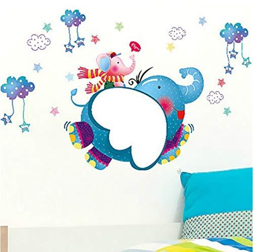 Elefantes Pegatinas De Pared Niños Dormitorio Jardín De Infantes Fondo Creativo Pintura...