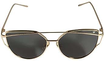 Cateye Lunettes de soleil en or/Rose Miroir UV400Yeux de chat Mode Rétro Vintage Fahsion Cadre en métal Lunettes de soleil CLASSIC–Whatever® - Or - UuU84