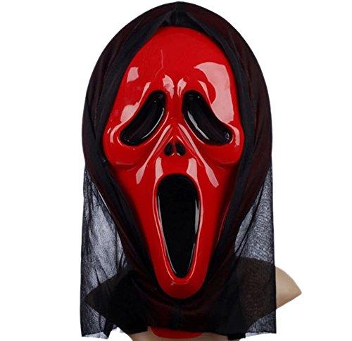 Männer und Frauen Halloween Schrei Scary Ghost Face Maske - Halloween Masken Scary Horror