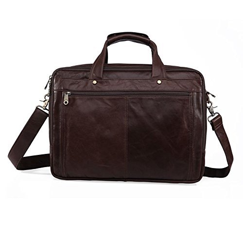Everdoss Hommes sac à main en cuir sac de business sac à bandoulière sac de messager sac d'affaires sac d'ordinateur de grande capacité brun