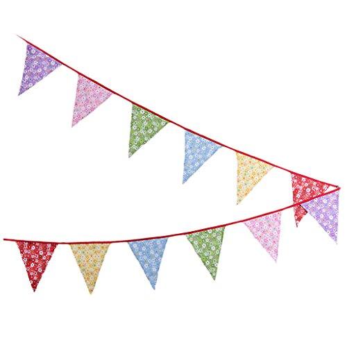 (MagiDeal Filz Dreieck Wimpel Girlande Bunt Wimpelkette Wimpeln für Geburtstag Party - D)