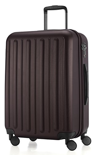 HAUPTSTADTKOFFER - Tegel - Valigia da viaggio rigida e legera, media 65 cm, Trolley ABS, TSA, 84 litri, Marrone scuro