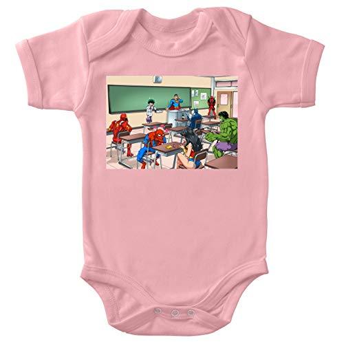 Marvel Cinematic Universe;Justice League;My Hero Academia;Deku;Superman;Batman;Spiderman;Iron Man;Deadpool;Wonder Woman Lustiges Pink Baby Strampler (Mädchen) - Deku (Marvel Cinematic Universe;Justi (Baby Woman Wonder)
