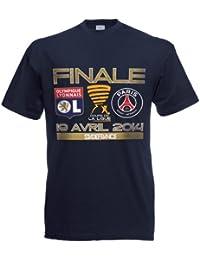 T-shirt PSG / LYON - Finale Coupe de la Ligue 2014 - Collection officielle PARIS SAINT GERMAIN - Taille homme