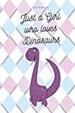 Just a Girl Who Loves Dinosaurs:  Notebook  Journal  Diary Wide Ruled Paper ( 6 x 9 ) colorful pastel diamonds cover