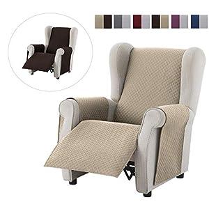Textil-home Sesselschoner Relax Adele, 1 Sitzer – Reversibel gepolsterter Sofaschutz. Farbe Grau