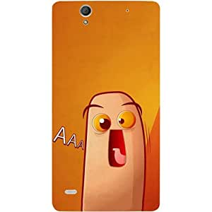 Casotec Yellow Cartoon Design Hard Back Case Cover for Sony Xperia C4