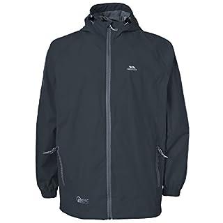 Trespass Qikpac Jacket, Flint, XXXL, Compact Packaway Waterproof Jacket Adult Unisex, XXX-Large / 3X-Large / 3XL, Grey