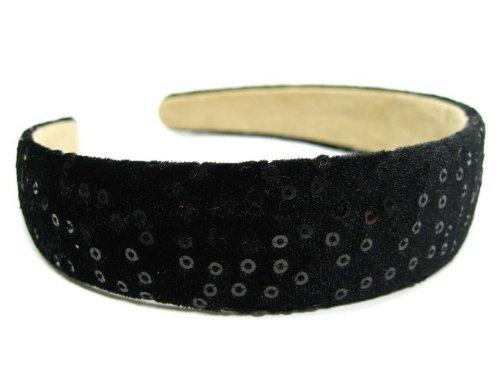 rougecaramel - accessoires cheveux - Serre tête/headband large velours - noir
