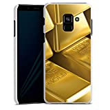 DeinDesign Hülle kompatibel mit Samsung Galaxy A8 Duos 2018 Handyhülle Case Goldbarren Gold Barren