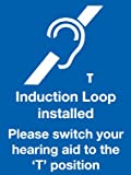 230 x 172 Induction Loop Installed sign