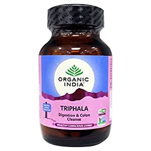 Organic India Triphala 60 Capsules Bottle