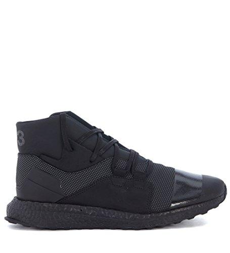 Sconosciuto Sneaker Y-3 Kozoko High in Tessuto Tecnico Nero Nero