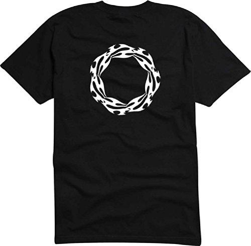 T-Shirt Herren feuerball Schwarz