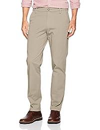 Dockers Men's Slim Tapered Fit Workday Khaki Smart 360 Flex Pants, Black/Stretch, 28W x 28L