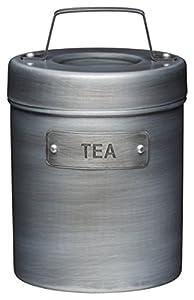 KitchenCraft Boîte à thé En métal Style industriel et vintage