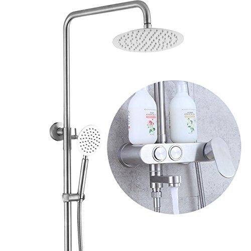ZHFC-Bad-Accessoires doccia 304 Acciaio inossidabile Acqua pressurizzata doccia doccia insieme Grande deposito doccia ugello