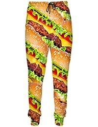 Mode Herren 3D Hosen Essen Pizza Burger Pommes Frites Beef Print Lässige Jogger Hosen