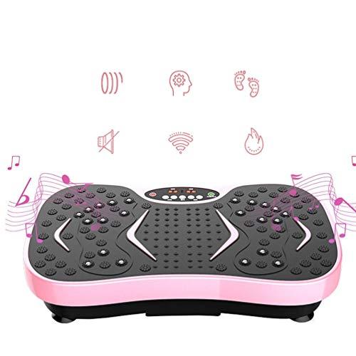 Vibrationsplatte Mit Bluetooth, Power Ropes + Fernbedienung + Widerstandsband Für Fitnessgerät, Fatburner, Ganzkörpertraining, Trainer