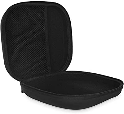 COWIN Portable Carrying Case, Waterproof Zipper Hard Case Travel Bag, Perfect Fit Over-ear Headphone for E7, Sony, Panasonic, Behringer, Sennheiser, Bose, Photive, Philips, Beats and More - Black.
