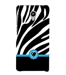 Fiobs Designer Back Case Cover for Meizu M3 Note :: Meizu Note 3 (Black Designs Patterns Cool Zebra Safed)