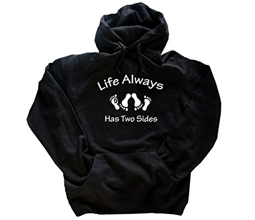Life has two sides - leben sterben Kapuzensweatshirt Hoody Schwarz XXXL (Hoody Sterben)