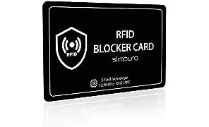 RFID Blocker Karte NFC Schutzkarte - Störsender Technologie 2019 - Eine Karte schützt - Nur 0,8 mm dünn - Keine Schutzhüllen mehr - Schutz Dank E-Field - Kreditkarte Schutz