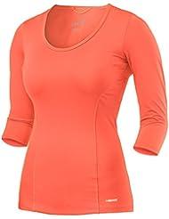 HEAD Vision 3/4 Shirt, Camicia Donna, Coral, M
