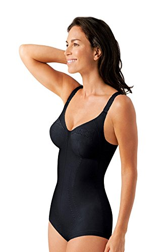 BODY MODELLATORE PLAYTEX 2858 REGINA DI QUADRI COPPA C NERO - BEIGE DALLA 34 (IT 3) ALLA 44 (IT 8) (38 C - IT 5 C, NERO)