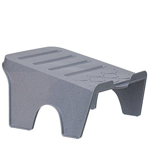 PIXNOR Stapelbare gewinkelt rutschfeste Schuhe Rack Veranstalter (Grau) (Stapelbar Schuhe Rack)