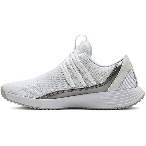Under Armour Breathe Lace X NM, Zapatillas de Running para Mujer, Blanco White/White/Metallic Blush...