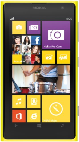 Nokia Lumia 1020 Smartphone (11,8 cm (4.5 Zoll) PureMotion HD+ OLED Touchscreen mit ClearBlack Technologie, 41 Megapixel, 32 GB, Windows 8) gelb (Nokia 32gb 1020)