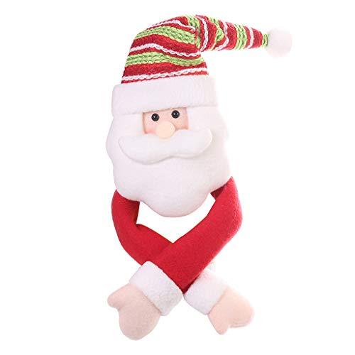 Yncc Frohe Weihnachten Santa Claus Schneemann Elk Bottle Cap Dinner Dekoration Geschenk (A) -
