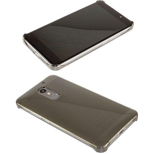 caseroxx Backcover für das UMI Super aus Kunststoff, Handy-Hülle in schwarz-transparent