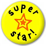 Small 25mm Lapel Pin Button Badge Novelty Super Star!