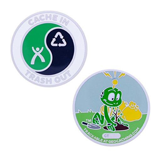 Unbekannt CITO Silver- Signal Full Size Regular Geocoin Cache in Trash Out trackable -
