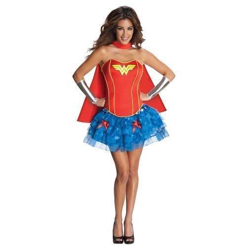 Generique - Heißes Wonder Woman-Kostüm für Damen - Heißes Wonder Woman Kostüm