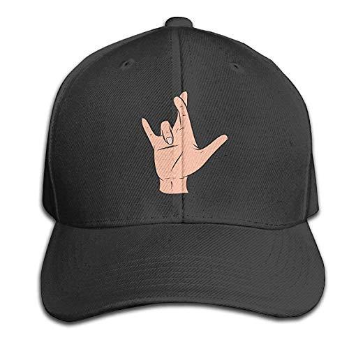 Ich Liebe Dich wirklich in ASL Adjustable Baseball Caps Unstrukturierter Papa Hut 100% Baumwolle Schwarz Schwarz QW828