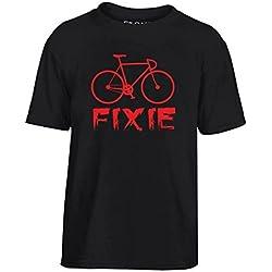 Cotton Island - T-shirt para ninos T0843 fixie bicicletta auto moto motori, Talla 9-11años