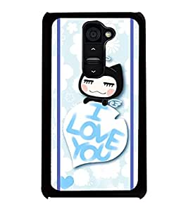 Fuson 2D Printed Love Designer back case cover for LG G2 - D4445