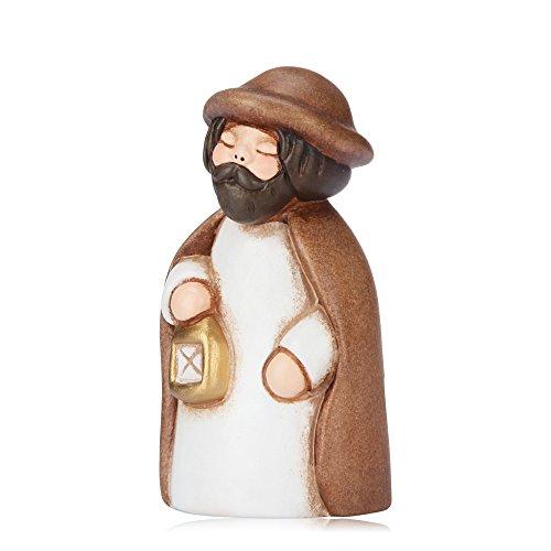 Thun® - san giuseppe - versione bianca - statuine presepe classico - ceramica - i classici