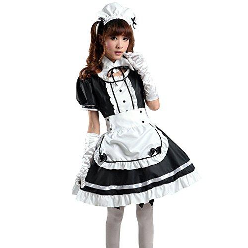 Maid Cosplay Halloween Cosplay Kleider Kostüm US (Französisch Kostüm Halloween Maid)