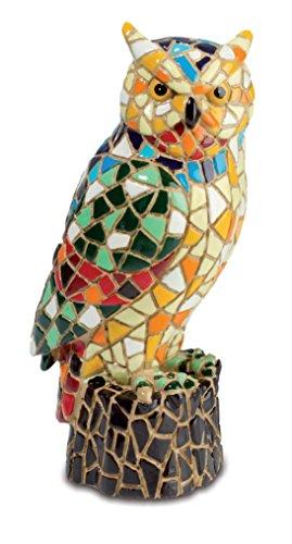 Figura de búho, 10,7 cm, diseño de mosaico