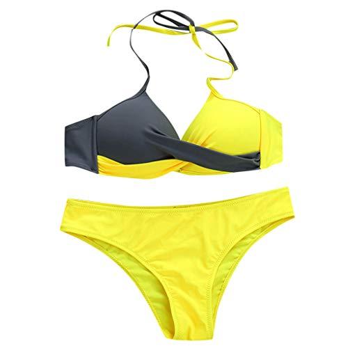 MERICAL Frauen gepolsterte Push-up-BH Bikini Set Badeanzug Badeanzug Bademode Beachwear