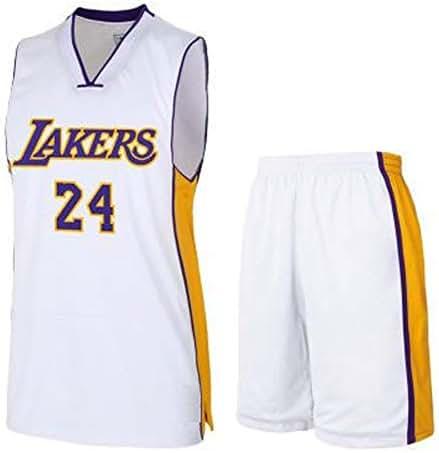 Gflyme Jerseys Lakers Kobe 1996-2016 Retired Commemorative T-shirt KOBE Cotton 8-24 Basketball Appearance Dress Short Sleeve Jerseys Color : Black 0, Size : XS