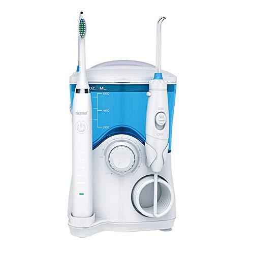 D&M Idropulsore Dentale Portatile,600ml Ricaricabile Numero di impulsi 1250-1700 Volte/Minuto Regolazione della Pressione di Livello 10,7 ugelli,B