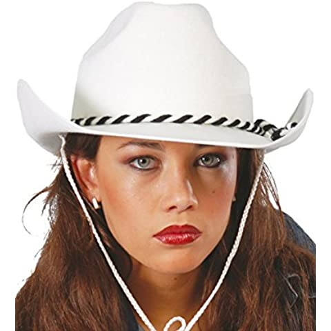 Sombrero Vaquero Dallas de terciopelo blanco