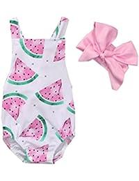 Xinantime_Bebe Mono Para Niñas, ❤️Xinantime 0~24 Meses Vestir Conjunto Set de Trajes Bebe Vestidos Gran Venta Recién Nacido Bebé…