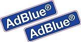 AdBlue Vinyl-Aufkleber, bedruckt, 80 x 24 mm, 2 Stück